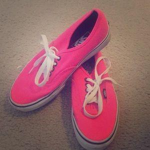 Hot Pink Vans